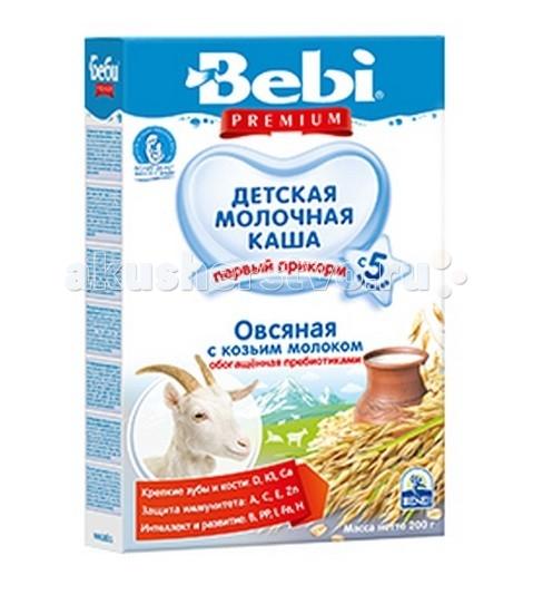 Каши Bebi Молочная Овсяная каша с козьим молоком с 5 мес. 200 г каши bebi молочная овсяная каша premium с 5 мес 250 г