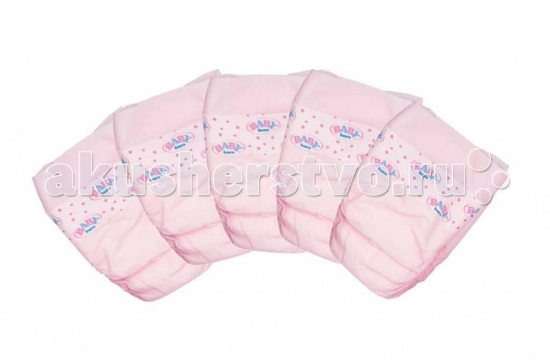 Куклы и одежда для кукол Zapf Creation Baby born Памперсы 5 шт. кукла zapf creation baby born сестричка 43 см