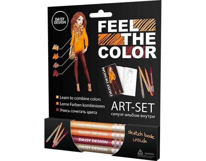 Принадлежности для рисования Daisy Design Арт-Сет фломастеры и силуэт-альбом Autumn Mix of Feel the color