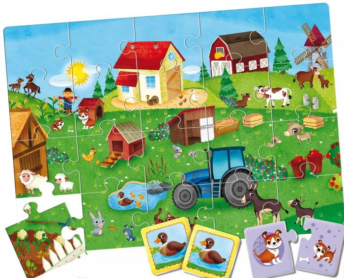 Ludattica Игра развивающая настольная Ферма 3 в 1