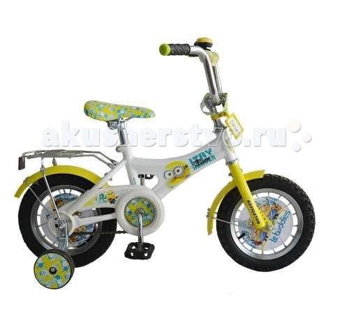 Велосипед двухколесный Navigator Гадкий Я 12 AB-1Гадкий Я 12 AB-1Велосипед Navigator Гадкий Я 12 AB-1 - это хорошо собранный и надёжный велосипед для ребёнка.   Особенности: Тип: детский Материал рамы: сталь Амортизация: отсутствует Конструкция вилки: жесткая Конструкция рулевой колонки: неинтегрированная, резьбовая Диаметр колес: 12 дюймов Материал обода: алюминиевый сплав Двойной обод: нет Материал бортировочного шнура: металл Возможность крепления боковых колес: есть Боковые колеса в комплекте: есть Тип переднего тормоза: отсутствует Тип заднего тормоза: ножной Уровень заднего тормоза: начальный Количество скоростей: 1 Уровень каретки: начальный Конструкция каретки: неинтегрированная Тип посадочной части вала каретки: квадрат Количество звезд в кассете: 1 Количество звезд системы: 1 Конструкция педалей: платформы Конструкция руля: изогнутый Настройка положения руля: регулируемый подъем Материал рамки седла: сталь Комфорт: защита цепи<br>