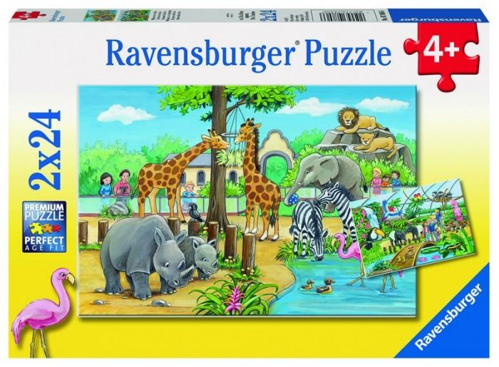 Пазлы Ravensburger Пазл Добро пожаловать в зоопарк! 2х24 детали