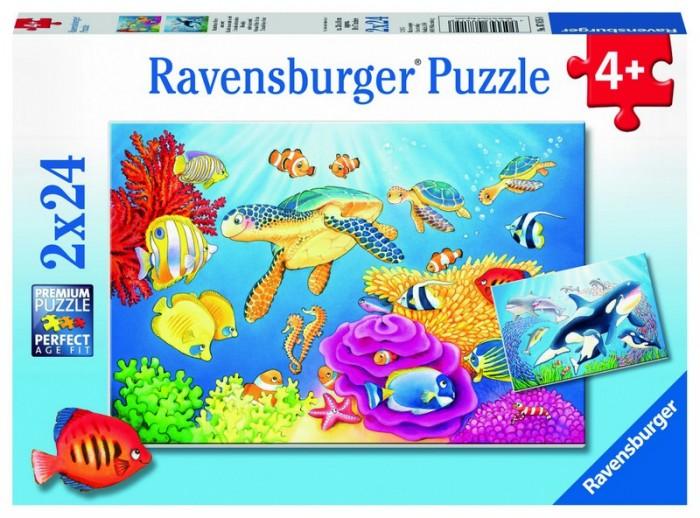 Пазлы Ravensburger Пазл На глубине моря 2х24 детали