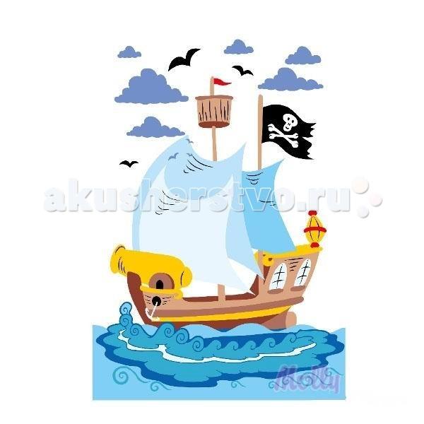 раскраска Molly по номерам пиратский корабль 20х30 см