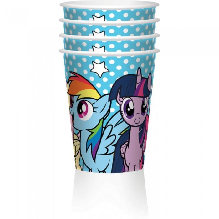 Товары для праздника EstaBella Набор стаканов My Little Pony Вместе веселее 4 шт.