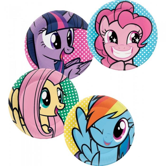 Товары для праздника EstaBella Набор тарелок My Little Pony Вечеринка Пинки Пай 4 шт.