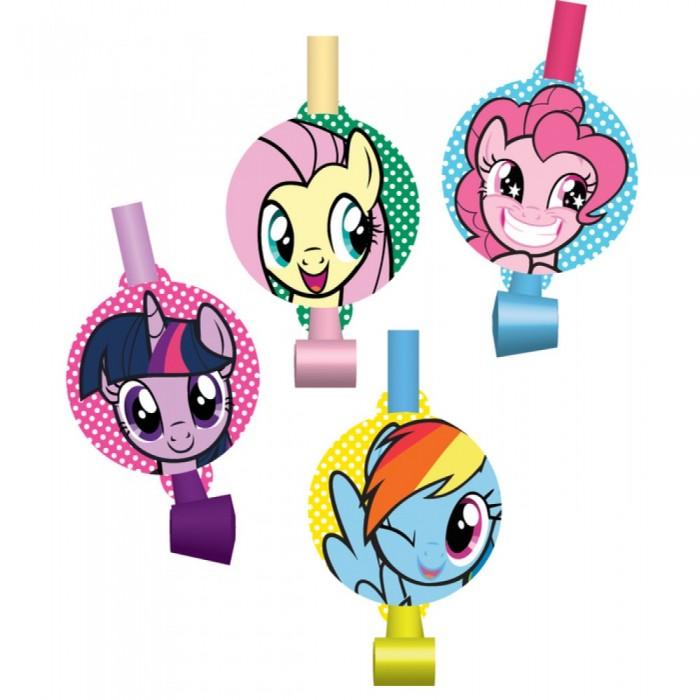 Товары для праздника EstaBella Набор праздничных свистков My Little Pony Дуделка 4 шт.