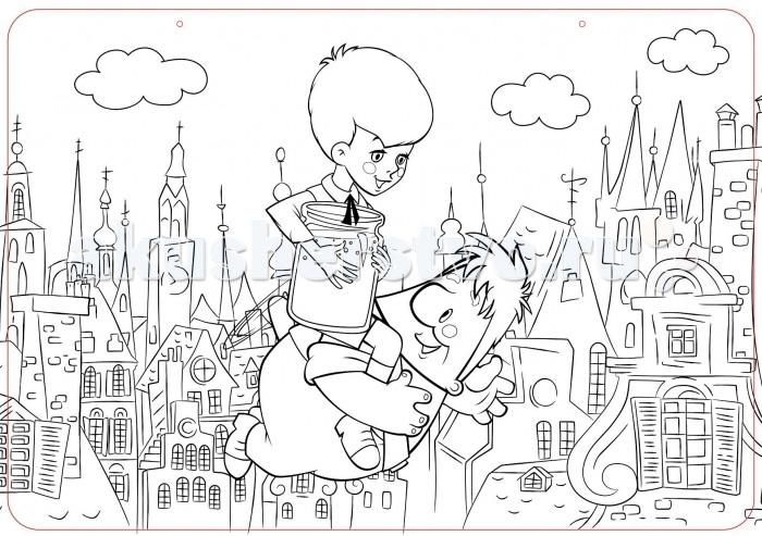 Раскраски ЯиГрушка Коврик для творчества маленький Малыш и Карлсон 48х33.5 см раскраски яигрушка коврик маленький аксессуары для девочек шляпы 48х33 5 см
