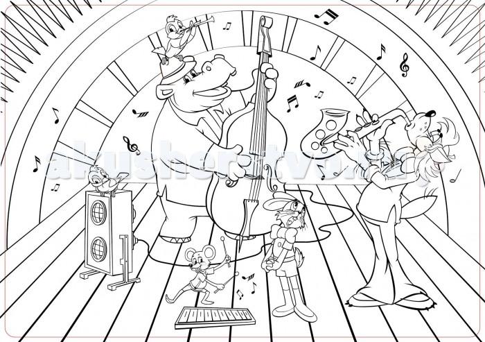 Раскраски ЯиГрушка Коврик для творчества маленький Ну, Погоди! 48х33.5 см раскраски яигрушка коврик маленький аксессуары для девочек шляпы 48х33 5 см