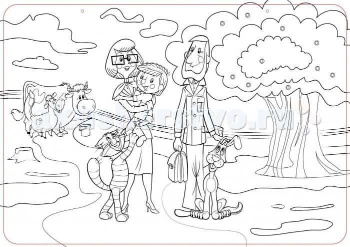 Раскраски ЯиГрушка Коврик для творчества маленький Простоквашино 48х33.5 см раскраски яигрушка коврик маленький аксессуары для девочек шляпы 48х33 5 см