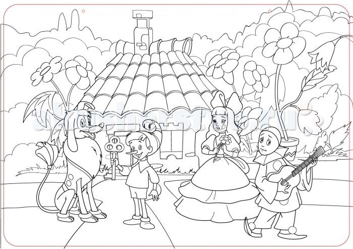 Раскраски ЯиГрушка Коврик для творчества маленький Буратино 48х33.5 см раскраски яигрушка коврик маленький аксессуары для девочек шляпы 48х33 5 см