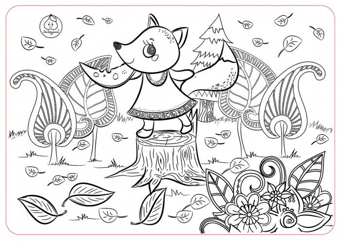 Раскраски ЯиГрушка Коврик для творчества маленький Лисичка 48х33.5 см раскраски яигрушка коврик маленький аксессуары для девочек шляпы 48х33 5 см