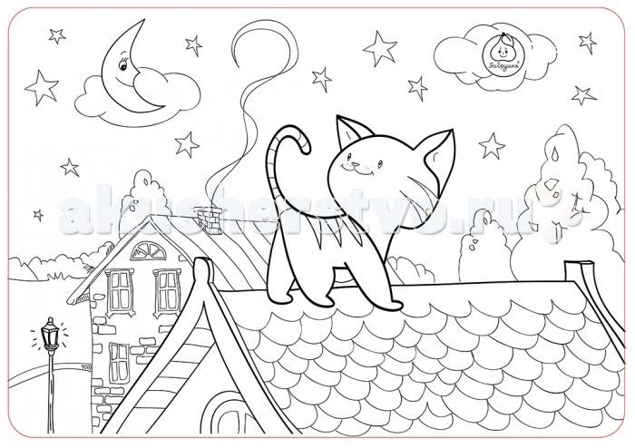 Раскраски ЯиГрушка Коврик для творчества маленький Котенок 48х33.5 см раскраски яигрушка коврик маленький аксессуары для девочек шляпы 48х33 5 см