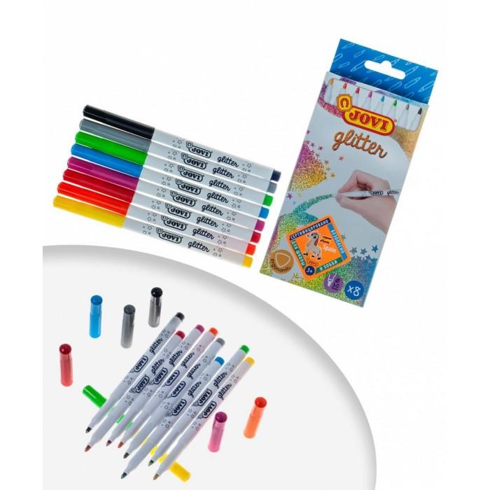 Фломастеры Jovi Набор с блестящими чернилами 8 цветов