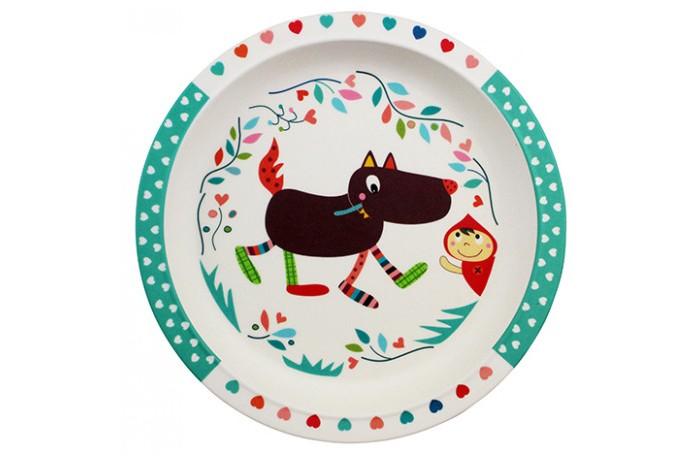 Посуда Ebulobo Бамбуковая тарелочка Волчонок посуда ebulobo тарелочка зоопарк