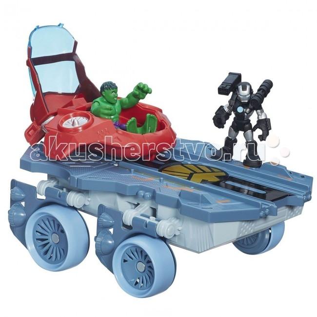 Playskool Hasbro Heroes Вертолетоносец-автомобильHasbro Heroes Вертолетоносец-автомобильPlayskool Игровой набор Вертолетоносец-автомобиль непременно привлечет внимание вашего ребенка и не позволит ему скучать. Набор включает в себя боевую машину и две фигурки героев.   Игрушки выполнены из прочного безопасного пластика. Руки и ноги фигурок подвижны, что позволяет придавать им различные позы и открывает малышу неограниченный простор для игр.   Такой набор обязательно понравится вашему ребенку, и он проведет множество счастливых мгновений, играя с ним и придумывая различные истории.<br>