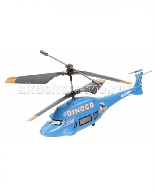 Dickie Вертолет ДинокоВертолет ДинокоВертолет Диноко Dickie на и/к порте - это очень эффектная игрушка, которую малыш оценит по достоинству. Он очень напоминает одного из героев любимого детьми мультфильма про Маккуина.  При помощи пульта дистанционного управления этот вертолет может летать и даже менять направление движения в воздухе!   Особенности:    Она сделана из качественного пластика  Вертолет Диноко на управлении очень эффектный, ведь сделан по мотивам известного мультфильма  Управляется при помощи инфракрасного пульта  В воздухе игрушка может лететь вверх/вниз, вперед/назад, вправо/влево  Наличие гироскопа позволяет обеспечить стабильность полета даже на виражах  Вертолет Диноко на радиоуправлении может летать до 8 минут без подзарядки  Сам пульт очень удобно держать двумя руками  В комплекте есть USB-кабель для соединения с компьютером. Это необходимо для подзарядки  Три вращающиеся лопасти   Размер: 19 см<br>