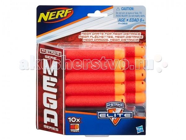 Игрушечное оружие Nerf Hasbro Комплект 10 стрел для бластеров МЕГА игрушечное оружие nerf hasbro зомби страйк 30 стрел