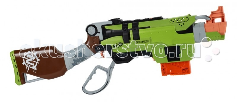 Игрушечное оружие Nerf Hasbro Бластер Зомби Страйк СлингФайр nerf бластер зомби страйк двойная атака с 8 лет