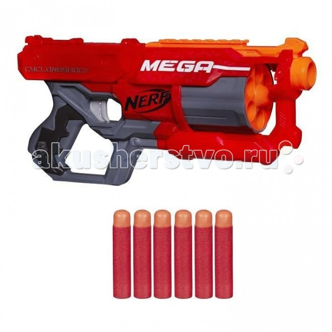 Игрушечное оружие Nerf Hasbro Бластер Мега Циклон-шок оружие игрушечное hasbro nerf бластер зомби слингфайр