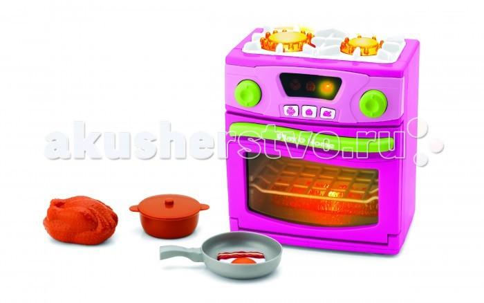 Keenway Игрушечная ПлитаИгрушечная ПлитаKeenway Плита со звуковыми и световыми эффектами  Особенности: Плита имеет две конфорки и духовой шкаф.  Снабжена дисплеем, на котором отражаются все блюда, готовящиеся в духовке и тремя кнопками для приготовления этих блюд.  Для того чтобы включить конфорки поверните регулятор над нужной вам конфоркой и вы услышите как зажегся огонь и готовится еда.  При включении конфорок или духового шкафа в соответствующем месте загорится красный свет, имитирующий огонь. Батарейки: 3 х 1,5V тип АА (входят в комплект)  В комплекте: газовая плита, курица , кастрюля, сковорода с разбитым на нее яйцом и кусочком бекона.  Внимание!Расцветки в ассортименте!<br>