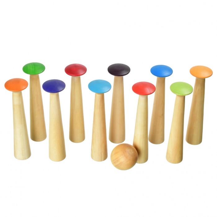 Деревянная игрушка Букарашка Активная игра Грибоулинг