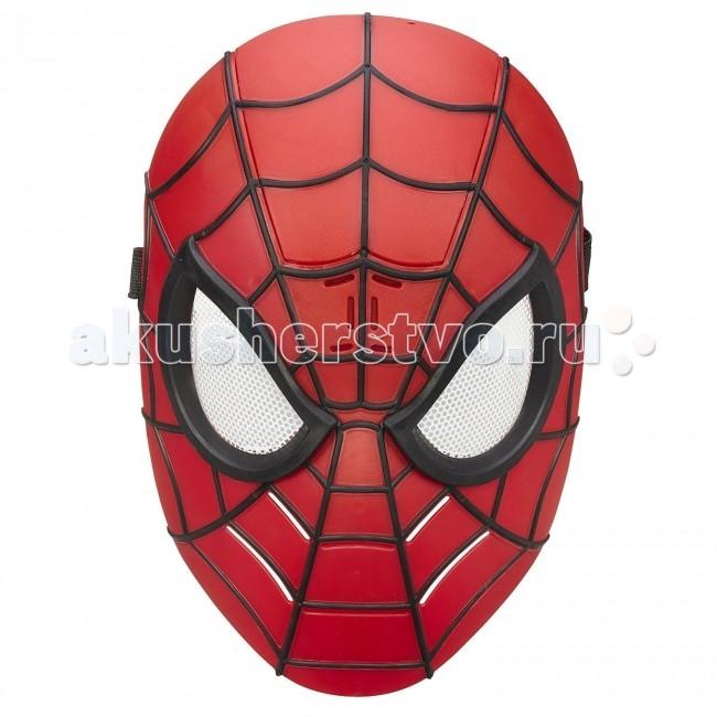 Hasbro Spider-Man Электронная маска Человека-ПаукаSpider-Man Электронная маска Человека-ПаукаКаждый мальчик сможет почувствовать себя настоящим супергероем надев электронную маску Человека-Паука Marvel Ultimate от Hasbro.   Внешне маска Человека-Паука выглядит очень реалистично, глаза покрыты тонкой белой сеткой, а одев маску можно просто не узнать ребенка, ведь маска закрывает лицо целиком, не оставляя никаких открытых мест.   Маска может воспроизводить оригинальные звуки и фразы из фильма, стоит только нажать на кнопку на подбородке.   Игрушечная маска Человека-Паука станет отличным подарком для каждого юного поклонника супергероев и комиксов!  Тип батареек: 2 х AAA (мизинчиковые).<br>