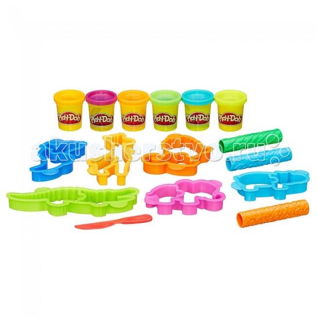 Всё для лепки Play-Doh Hasbro Набор Веселое Сафари 4m фигурки из формочки грузовики 4м