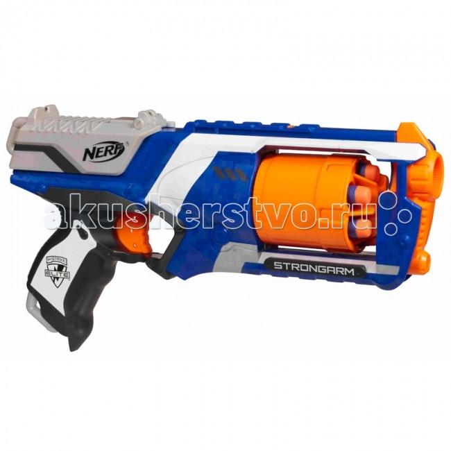 Игрушечное оружие Nerf Hasbro Бластер Элит Стронгарм игрушечное оружие nerf hasbro бластер элит разрушитель