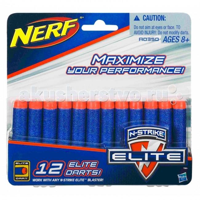 Игрушечное оружие Nerf Hasbro Комплект 12 стрел для бластеров игрушечное оружие nerf hasbro элит 3 ракеты