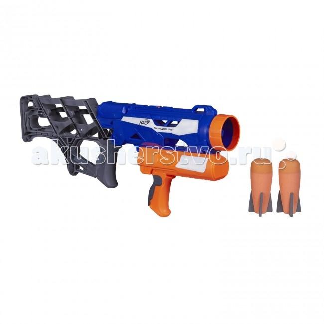 Nerf Hasbro Бластер Элит РакетницаHasbro Бластер Элит РакетницаДетский бластер NERF - Элит Ракетница Hasbro A9604H  Мальчишки обожает проводить время на свежем воздухе, инсценируя при этом захватывающие военные баталии или сражения. Чтобы игра стала увлекательнее и реалистичнее, юный стрелок может воспользоваться не просто бластером, а настоящей ракетницей, поражающей противника мягкими необычными снарядами.   Дети не только развлекаются во время такой игры, но и развивает глазомер в процессе прицеливания, а также становятся более ловкими и внимательными.  Особенности: В комплекте вместе с бластером предусмотрены 2 снаряда, напоминающих по форме ракеты. Бластер удобно держать в руках за счет эргономичной формы корпуса. Дальность полета снаряда – 18 метров. Мини-ракеты для бластера выполнены из яркого мягкого материла, поэтом у безопасны для детей и легко находимы в траве. Набор изготовлен из высококачественного пластика, нетоксичного и безопасного для детского здоровья.<br>