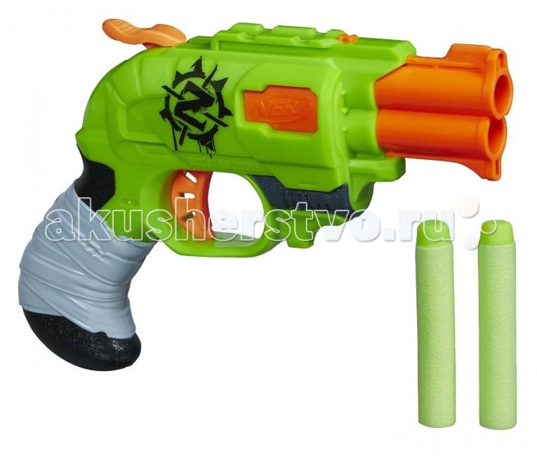 Игрушечное оружие Nerf Hasbro Бластер Зомби Страйк Двойной Удар игрушка hasbro nerf бластер зомби страйк сайдстрайк a6557
