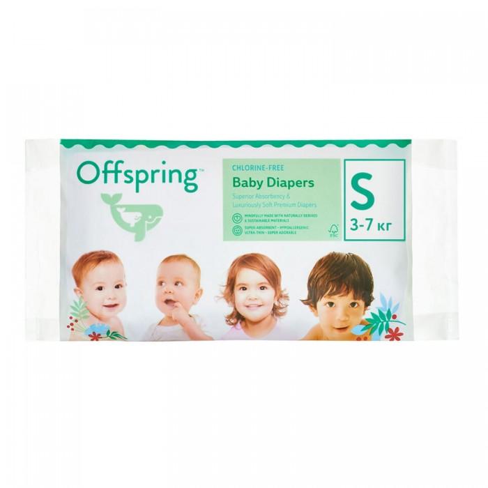 Подгузники Offspring Эко-подгузники Дорожная упаковка размер S (3-7 кг) 3 шт.
