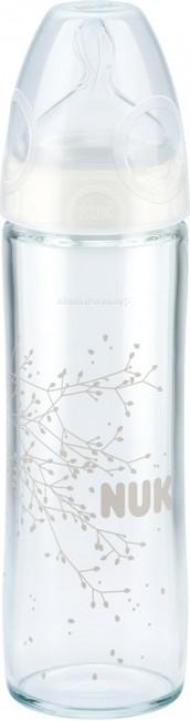 Бутылочки Nuk First Choice New Classic стекло 240 мл силиконовая соска М nuk first choice plus пластик 300 мл силиконовая соска м