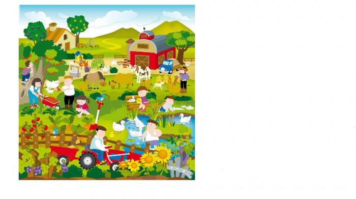 Игровой коврик ЯиГрушка в рулоне Сельская жизнь