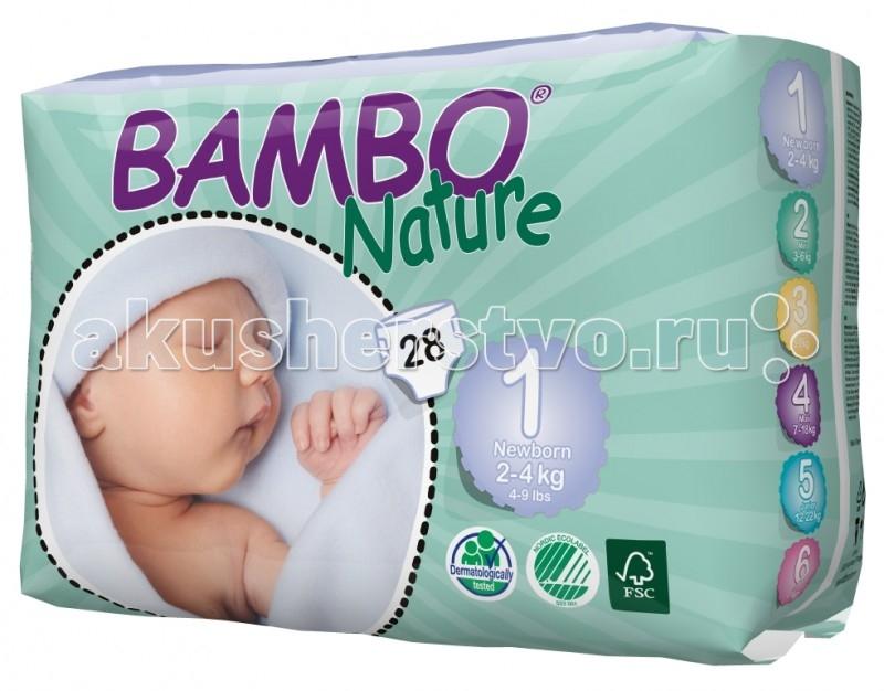 Подгузники Bambo Nature Подгузники Newborn (2-4 кг) 28 шт.