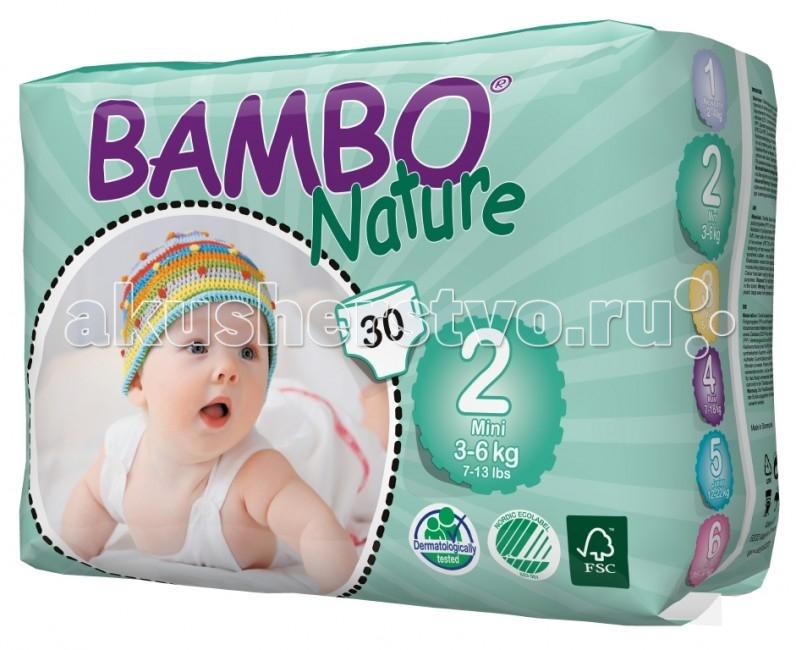 Подгузники Bambo Nature Подгузники Mini (3-6 кг) 30 шт.