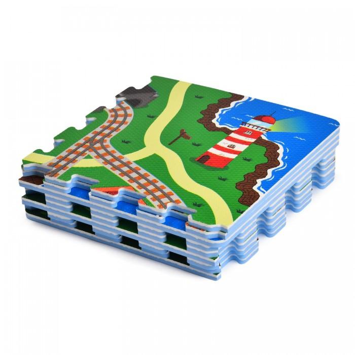 Игровой коврик ЯиГрушка пазл Железная дорога (9 деталей)