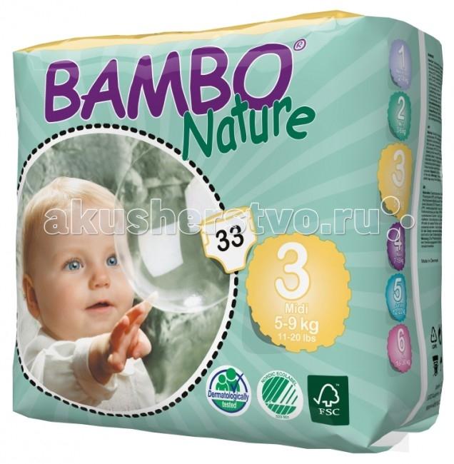 Подгузники Bambo Nature Подгузники Midi (5-9 кг) 33 шт.