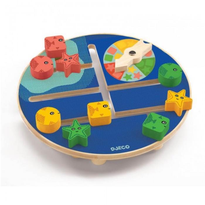 Купить Деревянные игрушки, Деревянная игрушка Djeco Развивающий лабиринт Подводный мир