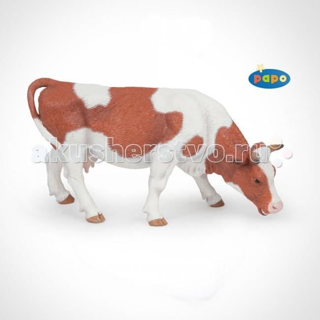 Игровые фигурки Papo Игровая реалистичная фигурка Пасущаяся симментальская корова