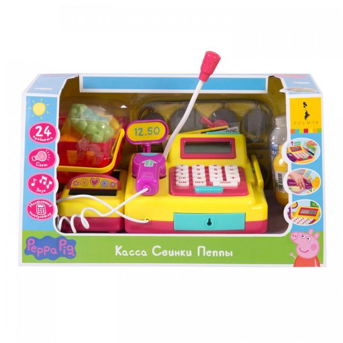 Купить Ролевые игры, Свинка Пеппа (Peppa Pig) Касса с настоящим калькулятором, светом и звуком