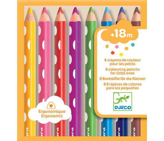 Фото - Карандаши, восковые мелки, пастель Djeco Набор карандашей 8 шт. карандаши восковые мелки пастель lego набор карандашей с насадками в форме кирпичика batman movie 2 шт