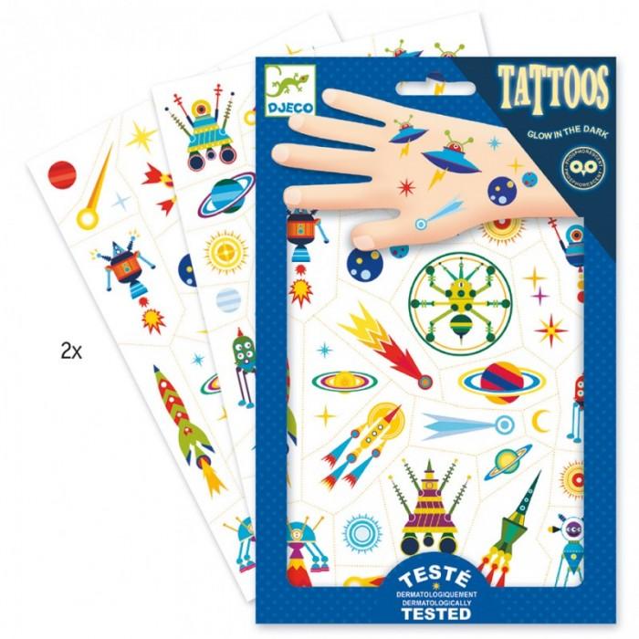 Djeco Татуировки светящиеся в темноте Космос фото