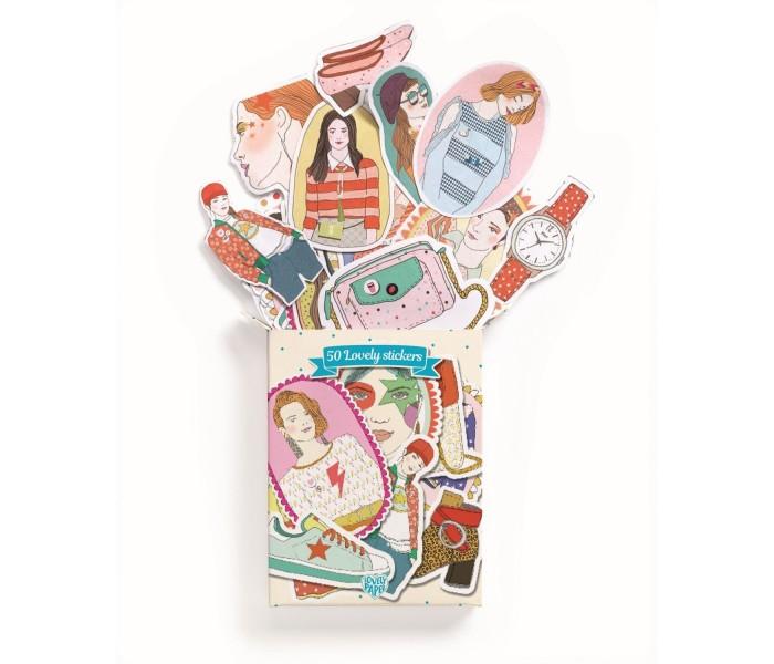 Детские наклейки Djeco Набор наклеек Натали djeco набор карандашей djeco lovely paper металлик 10 шт
