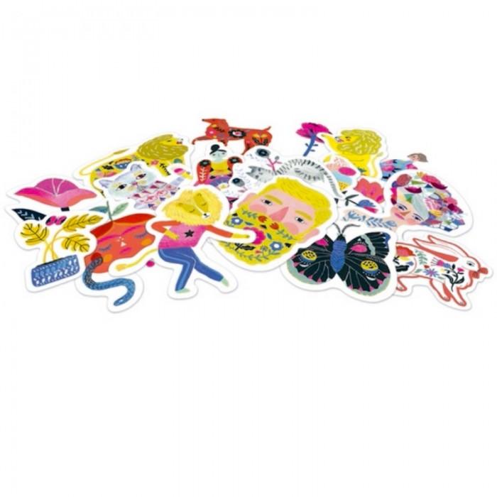 Детские наклейки Djeco Набор наклеек Сара djeco набор карандашей djeco lovely paper металлик 10 шт