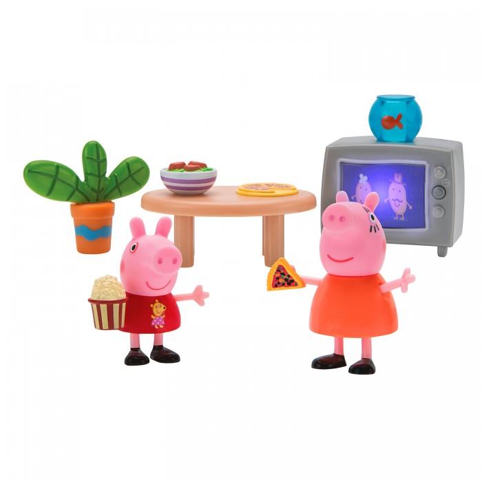 Купить Игровые наборы, Свинка Пеппа (Peppa Pig) Игровой набор Пеппа и Мама смотрят фильмы