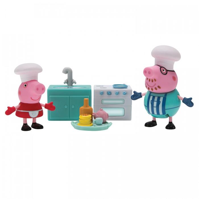Купить Игровые наборы, Свинка Пеппа (Peppa Pig) Игровой набор Пеппа и Папа пекут блинчики