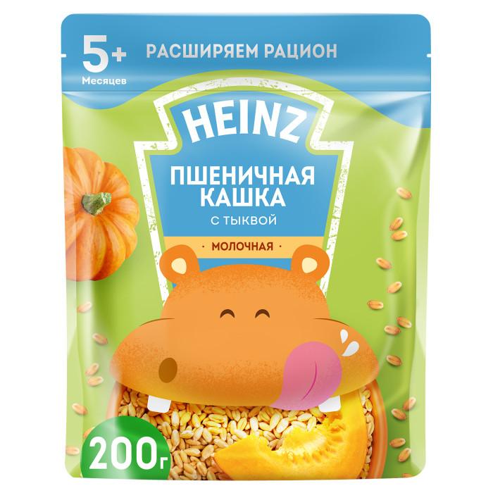 Каши Heinz Молочная Пшеничная каша с тыквой и Омега 3 с 5 мес. 200 г (пауч) каши heinz безмолочная пшенично кукурузная каша с тыквой с 5 мес 200 гр