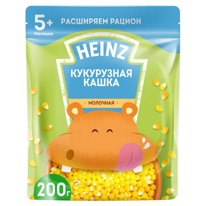Каши Heinz Молочная Кукурузная каша с Омега 3 с 5 мес. 200 г (пауч) каши heinz безмолочная пшенично кукурузная каша с тыквой с 5 мес 200 гр